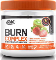 Optimum Nutrition Burn Complex Strawberry Kiwi 30 Serves 150g