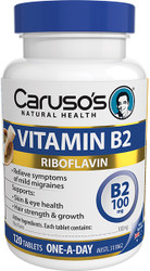 Caruso's Natural Health Vitamin B2 100mg 120 Tabs