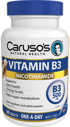 Caruso's Natural Health Vitamin B3 60 Tabs