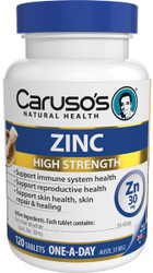 Caruso's Natural Health Zinc 120 Tabs