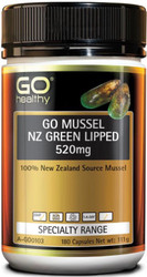 GO Healthy NZ Green Lipped Mussel 520mg 180 Caps