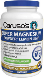 Caruso's Natural Health Super Magnesium Powder Lemon Lime 250g