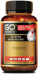 GO Healthy Detox Rapid Release 60 Caps