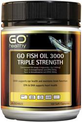 GO Healthy Fish Oil 3000 Triple Strength 150 Caps