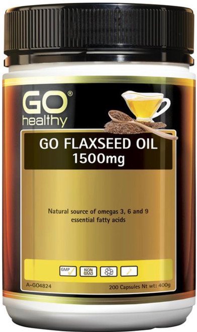 GO Healthy Flaxseed Oil 1500mg 200 Caps