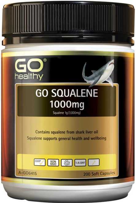 GO Healthy Squalene 1000mg 200 Caps
