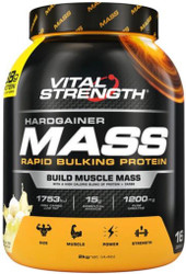 VitalStrength Hardgainer Mass Rapid Bulking Protein Vanilla Ice Cream 2kg