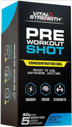 VitalStrength Pre Workout Shots Arctic Blue 5x10g Pack