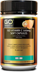 GO Healthy Vitamin C 500mg 100 Soft Caps