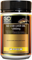 GO Healthy Cod Liver Oil 1000mg 100 Soft Caps