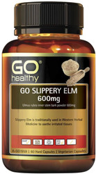 Go Healthy Slippery Elm 600mg 60 Vege Caps