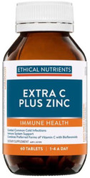 Ethical Nutrients Extra C Plus Zinc 60 Tabs