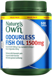 Nature's Own Odourless Fish Oil 1500mg 500 Caps