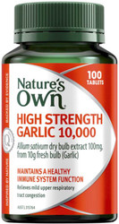 Nature's Own High Strength Garlic 10000mg 100 Tabs