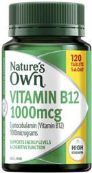 Nature's Own Vitamin B12 1000mcg 120 Tabs