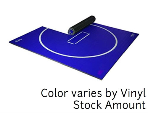 "10' x 10' x 1-1/4"" Tiffin Wrestling Mat Color determined by Vinyl in Stock"