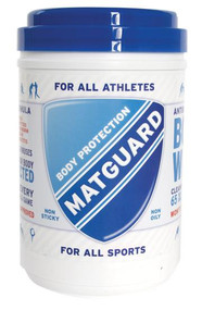 "MATGUARD® ANTISEPTIC WIPES contain a patented formulation that has proven to be extremely effective at killing 99.9% of the germs, viruses and bacteria that people involved in athletic and physical activity come in contact with. 10""x12"" wipes. 65 count."