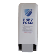 Our custom size poly-resin wall-mount dispenser unit is easy to install in locker rooms, team rooms, weight rooms, gym and anywhere you want to have people access our patented FDA-approved body foams and sprays.
