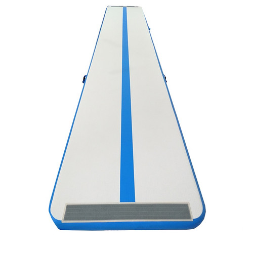 The Air Inflatable Tumble Track is a sealed-air training mat imported by Midlantic Sports Products. Midlantic has partnered with a specialty factory in China, whose skilled artisans hand manufacture their products with only the finest materials, ensuring you get the highest quality, longest lasting inflatables in the marketplace.