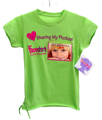 Faceshirt with Pix-Pockets: New fun way to share your FAV photos with family and friends and everyone you meet and you can change the photos on your shirt whenever you want!