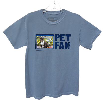 NEW! Pet Lovers Unisex T-shirt by Faceshirt. Wear, Share & Change your FAV Pet Photos with everyone you meet. Insert Photo into Pix-Pocket and Show your Pet Pride! Available in several colors for kids and young adults. 100% Double Stitched Seam Cotton.