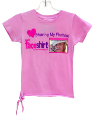 NEW T-Shirt Design for kids and young adults: Faceshirt is the new fun way to share your FAV photos with family and friends and everyone you meet and you can change the photos on your shirt whenever you want!