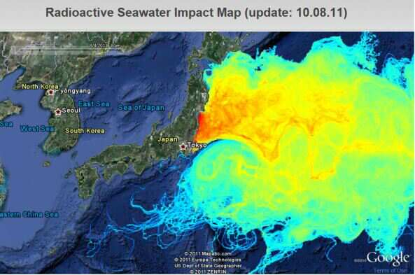 Pacific radiation map