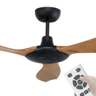 Brilliant Concorde DC Motor 152cm Black/Maple & Remote Ceiling Fan