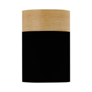 Telbix Akira DIY Ceiling Batten Fix Light Black & Oak