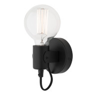 Mercator Bronte Simple Wall Light Matt Black