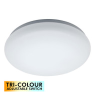 Mercator Cloud 30w TRI-COLOUR LED Ceiling Oyster DIMMABLE