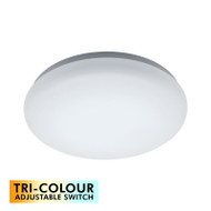 Mercator Cloud 22w TRI-COLOUR LED Ceiling Oyster DIMMABLE
