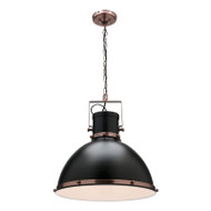 Mercator Tonic Black & Copper Hanging Pendant Large