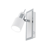 Eglo Davida 1lt GU10 LED Spotlight White & Chrome