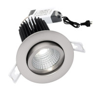 Mercator Gizmo 12w 5000K LED Gimble Down Light Brushed Chrome