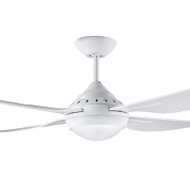 Deka Russell 120cm White Plastic Indoor/Outdoor Ceiling Fan & LED Light