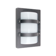 Oriel Trio MINI Rectangle Aluminium Exterior Wall Light Graphite