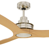 Mercator Flinders 140cm Brushed Chrome Ceiling Fan