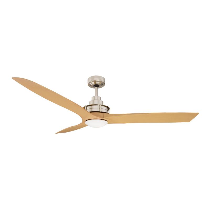 Mercator Flinders 140cm Brushed Chrome Ceiling Fan Led Light