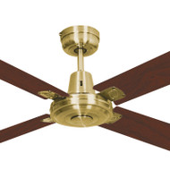 Mercator Swift 130cm Satin Brass Motor Timber Ceiling Fan