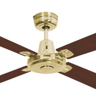Mercator Swift 130cm Polished Brass Motor Timber Ceiling Fan