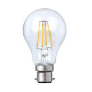 Plusrite 8w B22 LED Vintage Filament A60 GLS Shape