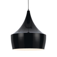 Telbix Morris 50 Aluminium Hanging Pendant Black