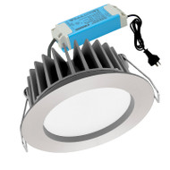 Mercator Optica 12w 5000K LED Down Light Polished Aluminium