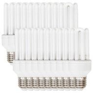 DISCOUNT PACK OF 20 Sylvania 15w E27 Mini-Lynx CFL 4000K Cool White