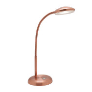 Mercator Dylan 4.5w LED Touch Switch Desk Lamp Copper