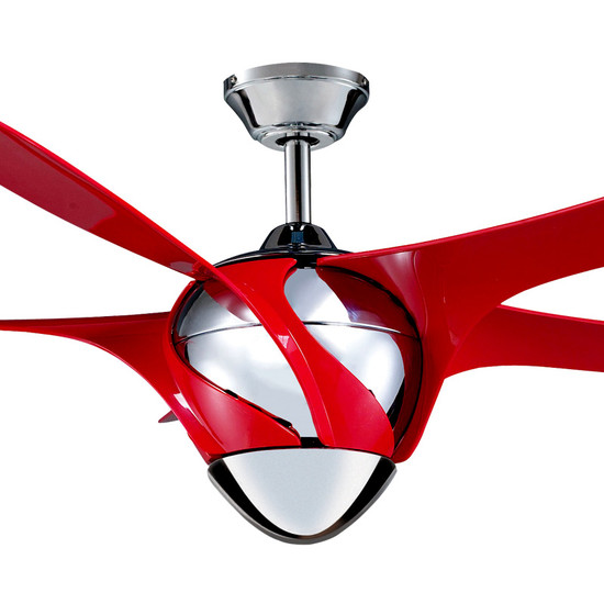Myfan Nuovo 138cm Red Plastic Blade Ceiling Fan Galaxy Lighting Amp Fans