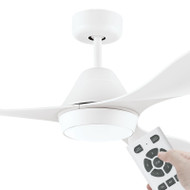 Eglo Nevis DC Motor 132cm White LED Light & Remote Ceiling Fan