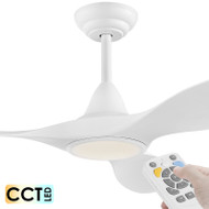 Eglo Noosa DC Motor 132cm White LED Light & Remote Ceiling Fan
