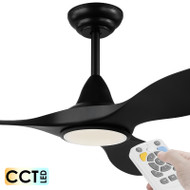 Eglo Noosa DC Motor 132cm Black LED Light & Remote Ceiling Fan
